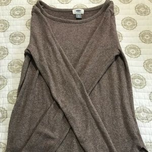 LIGHT BROWN/GREY FLEECE SWEATER